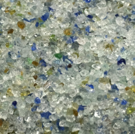 Premium Crushed Glass (blue)